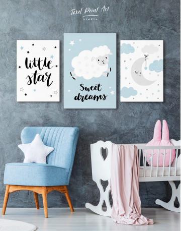 Little Star Nursery Canvas Wall Art - image 3