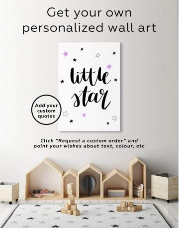 Little Star Nursery Canvas Wall Art - image 1