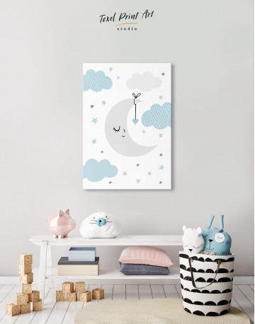 Baby Boy Nursery Moon Canvas Wall Art - image 5