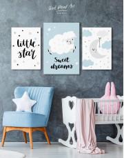 Baby Boy Nursery Moon Canvas Wall Art - Image 3
