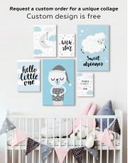 Baby Boy Nursery Moon Canvas Wall Art - Image 2