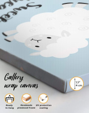 Sheep Nursery Sweet Dreams Canvas Wall Art - Image 5