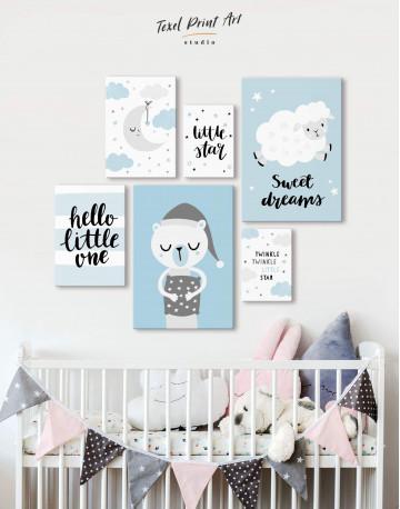 Sheep Nursery Sweet Dreams Canvas Wall Art - image 2