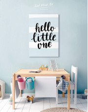 Hello Little One Nursery Canvas Wall Art - Image 4