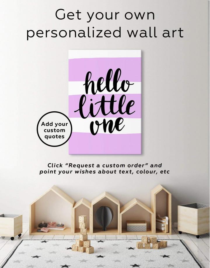 Hello Little One Nursery Canvas Wall Art - Image 1