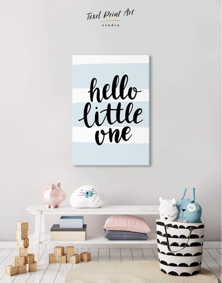 Hello Little One Nursery Canvas Wall Art