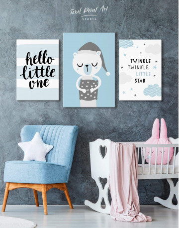 Hello Little One Nursery Canvas Wall Art - image 3