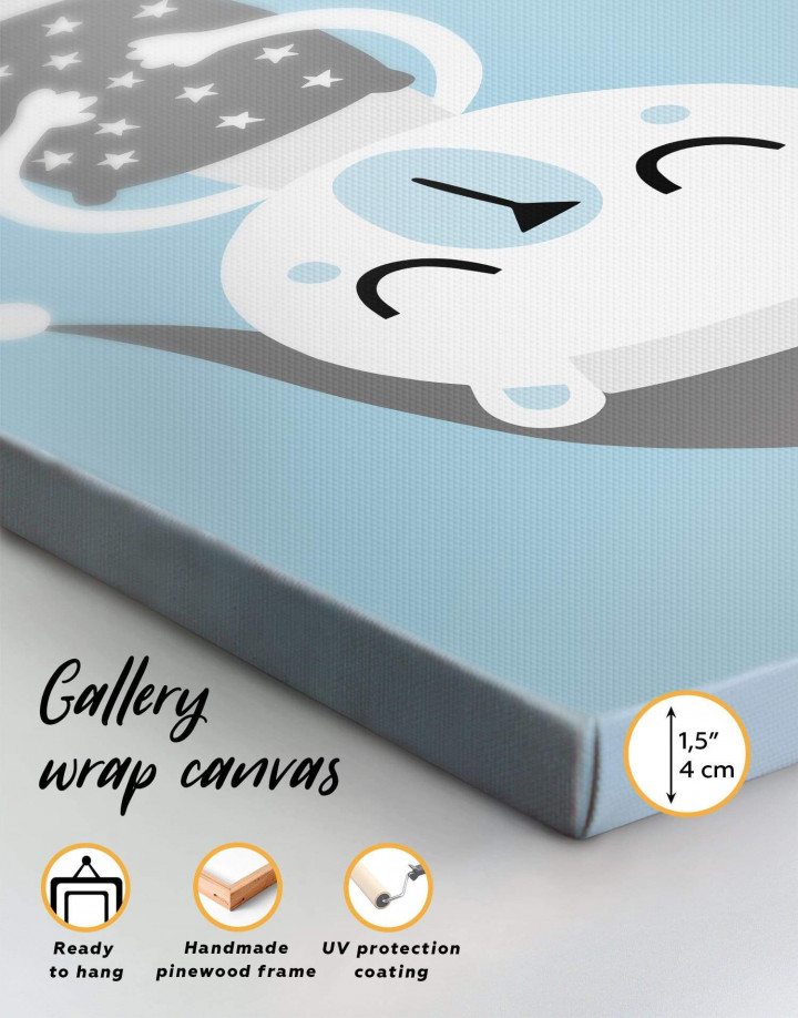 Polar Bear Nursery Bedroom Canvas Wall Art - Image 5
