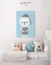 Polar Bear Nursery Bedroom Canvas Wall Art - Image 4