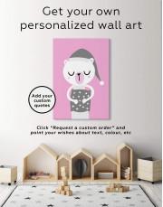 Polar Bear Nursery Bedroom Canvas Wall Art - Image 1