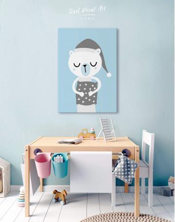 Polar Bear Nursery Bedroom Canvas Wall Art - image 6