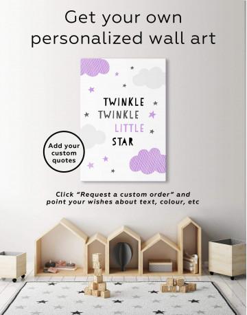 Twinkle Twinkle Little Star Canvas Wall Art - image 1