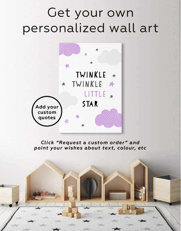Twinkle Twinkle Little Star Canvas Wall Art - Image 1