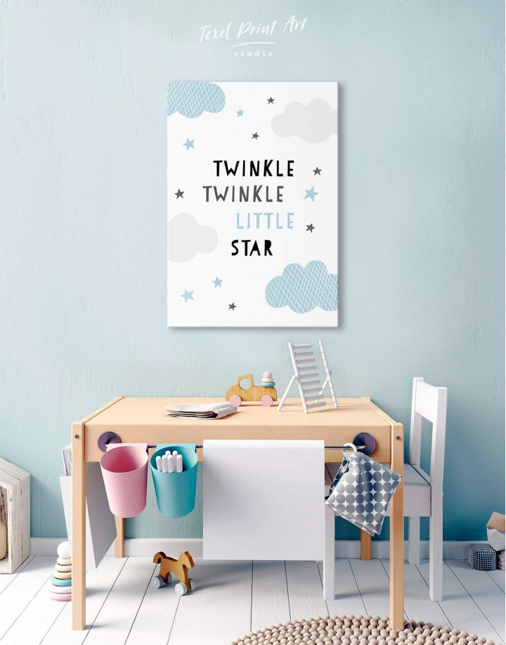 Twinkle Twinkle Little Star Canvas Wall Art - Image 0