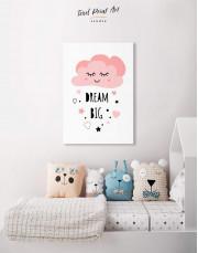 Little Girl Dream Big Canvas Wall Art