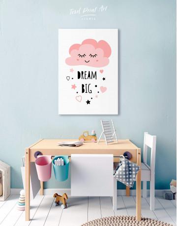 Little Girl Dream Big Canvas Wall Art - image 5