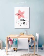 Girls Room Little Star Canvas Wall Art - Image 4