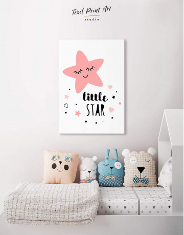 Girls Room Little Star Canvas Wall Art - image 5
