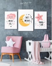Girls Room Little Star Canvas Wall Art - Image 3