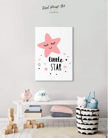 Girls Room Little Star Canvas Wall Art
