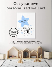 Girls Room Little Star Canvas Wall Art - Image 1