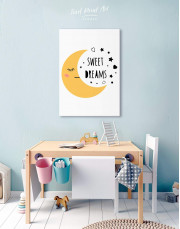 Sweet Dreams Nursery Canvas Wall Art - Image 5