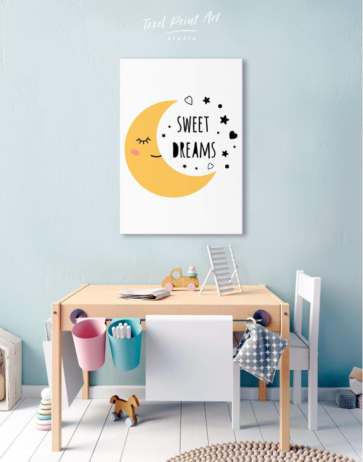 Sweet Dreams Nursery Canvas Wall Art - Image 5
