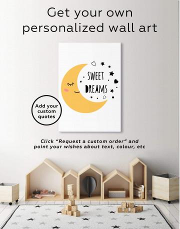 Sweet Dreams Nursery Canvas Wall Art - image 1