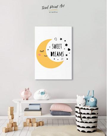 Sweet Dreams Nursery Canvas Wall Art - image 4