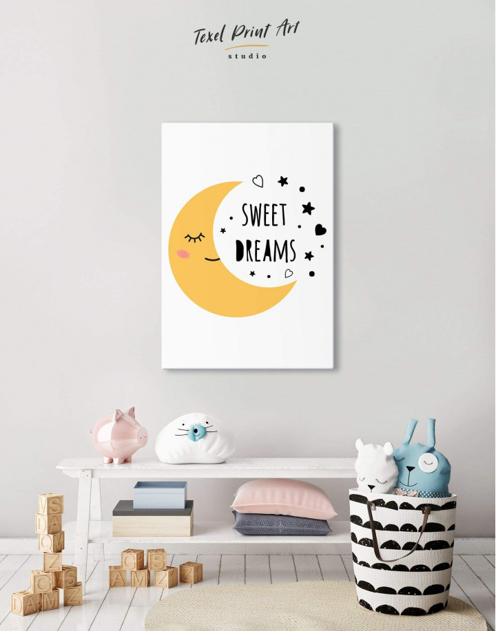 Sweet Dreams Nursery Canvas Wall Art - Image 4