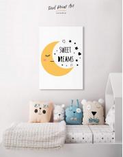 Sweet Dreams Nursery Canvas Wall Art