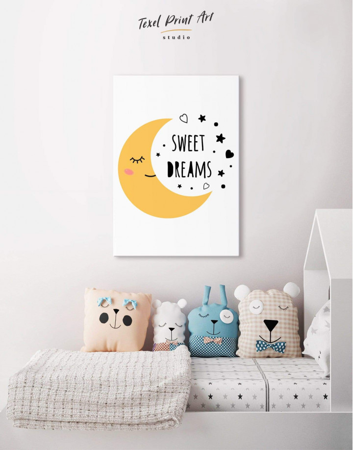 Sweet Dreams Nursery Canvas Wall Art - Image 0