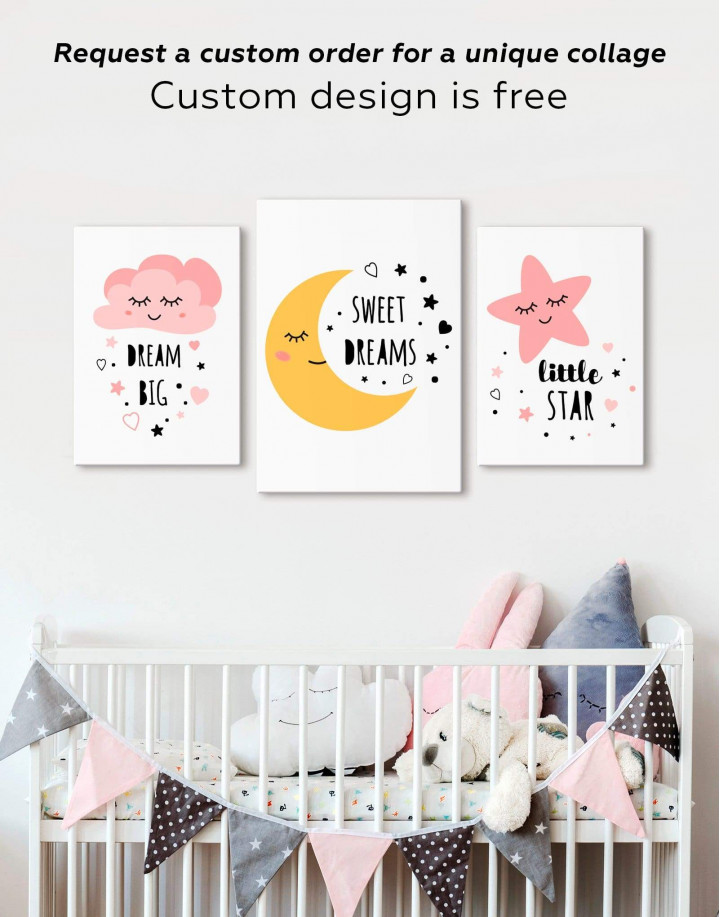 Sweet Dreams Nursery Canvas Wall Art - Image 2