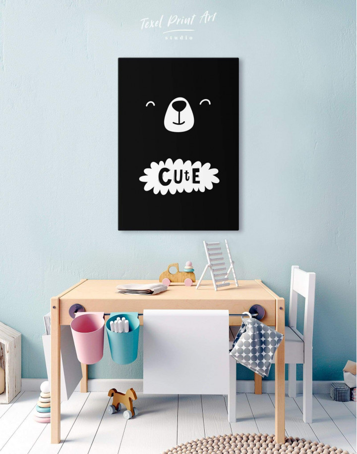 Cute Bear Nursery Canvas Wall Art - Image 2