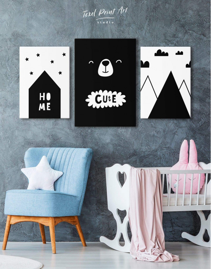 Cute Bear Nursery Canvas Wall Art - Image 4
