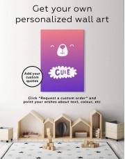 Cute Bear Nursery Canvas Wall Art - Image 6