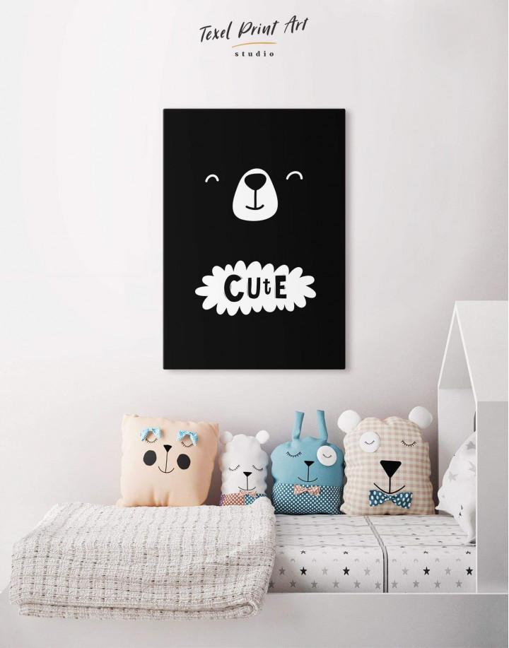 Cute Bear Nursery Canvas Wall Art - Image 3