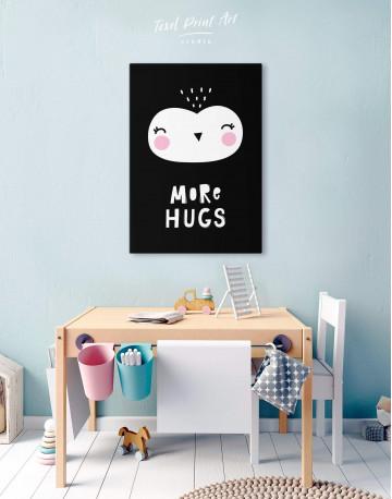 More Hugs Nursery Animal Canvas Wall Art - image 4