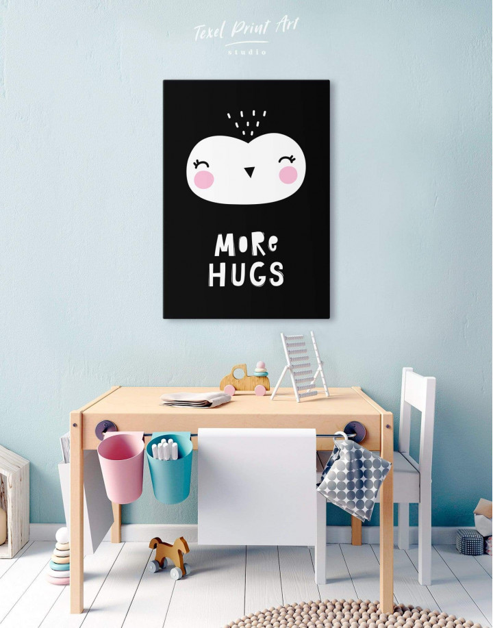More Hugs Nursery Animal Canvas Wall Art - Image 4