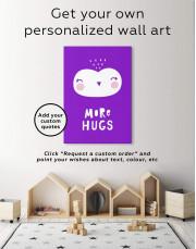 More Hugs Nursery Animal Canvas Wall Art - Image 1