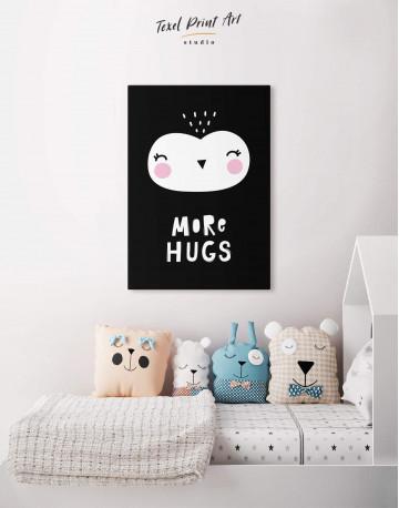 More Hugs Nursery Animal Canvas Wall Art - image 5