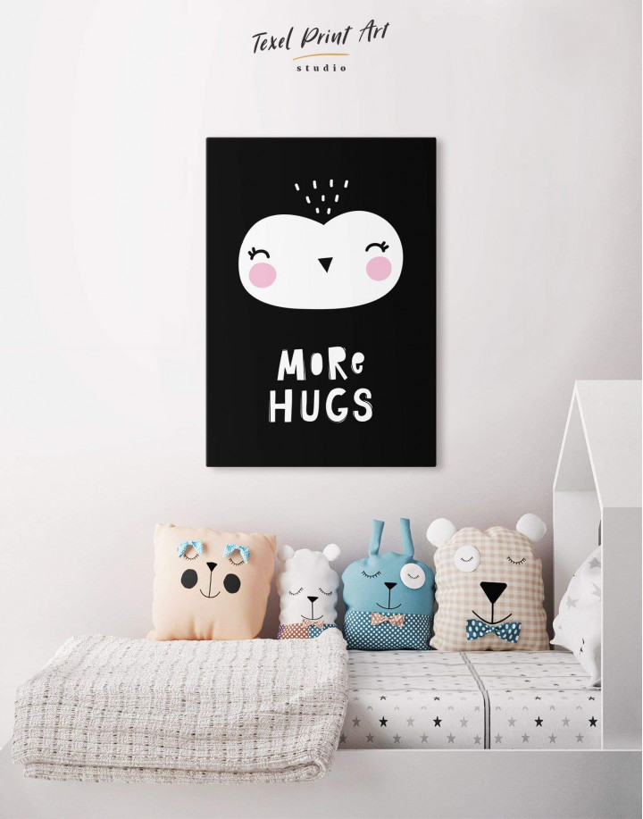 More Hugs Nursery Animal Canvas Wall Art - Image 5