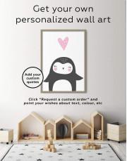 Framed Penguin Nursery Animal Canvas Wall Art - Image 6
