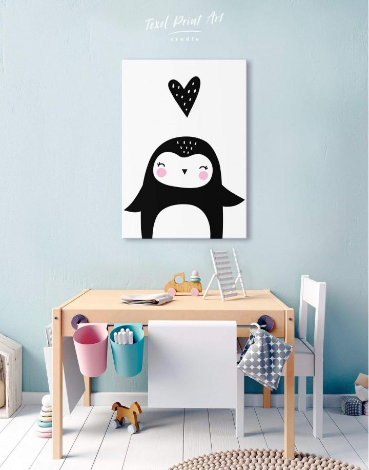Penguin Nursery Animal Canvas Wall Art - Image 5