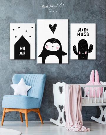Penguin Nursery Animal Canvas Wall Art - image 3