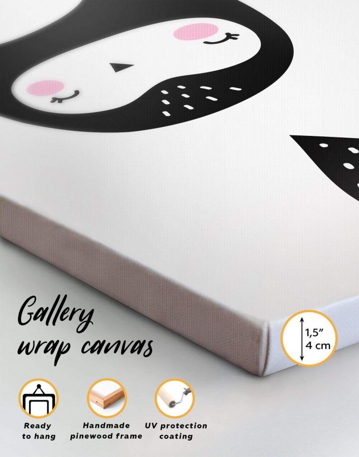 Penguin Nursery Animal Canvas Wall Art - Image 6