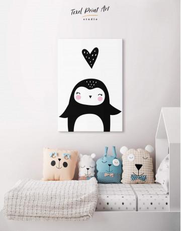 Penguin Nursery Animal Canvas Wall Art - image 4