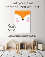 Fox Nursery Animal Canvas Wall Art - Image 1