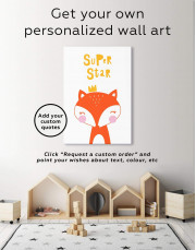 Super Star Fox Nursery Animal Canvas Wall Art - Image 6