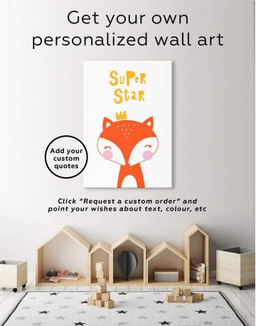 Super Star Fox Nursery Animal Canvas Wall Art - image 1